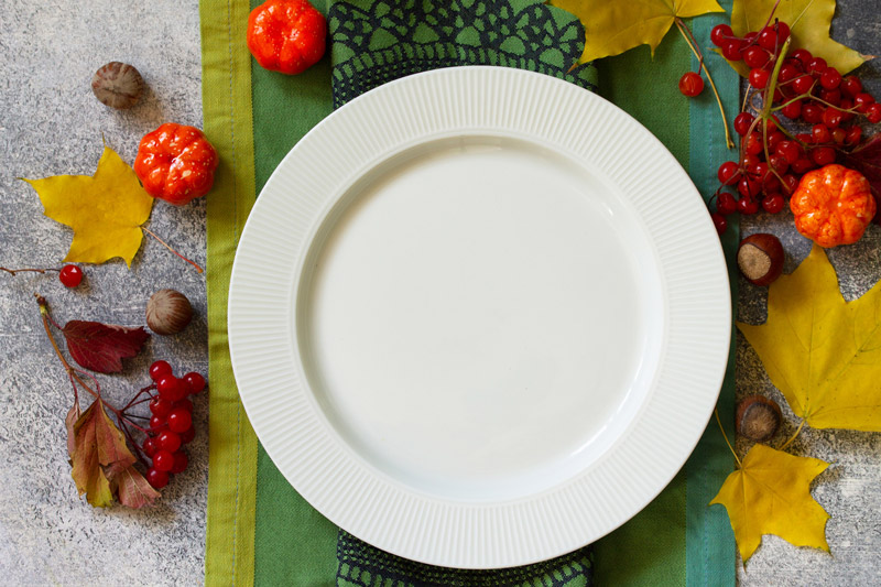 A plate for Thanksgiving